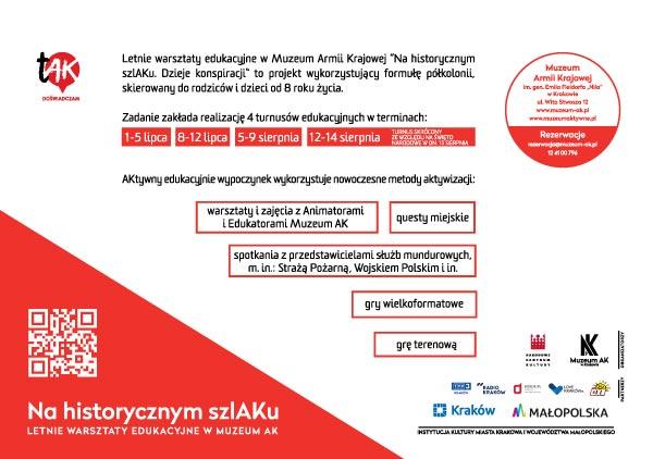 Letnie Warsztaty Edukacyjne w Muzeum AK w Krakowie