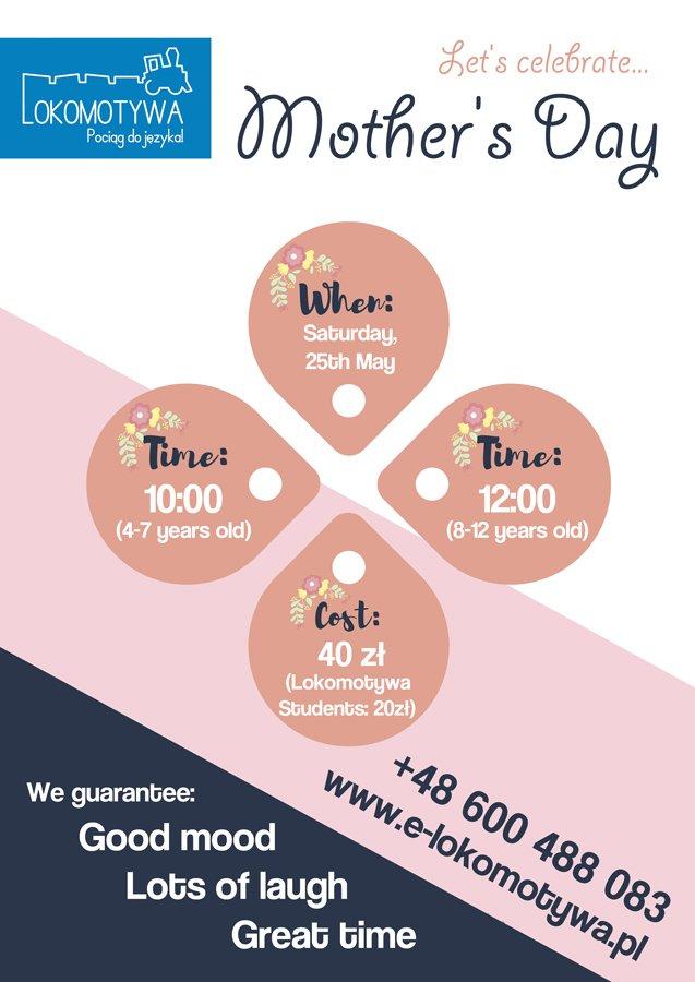 Let's celebrate Mother's Day - warsztaty językowo-plastyczne
