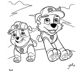 Psi Patrol Zabawy Do Druku Dla Dzieci Kolorowanki łamigłówki