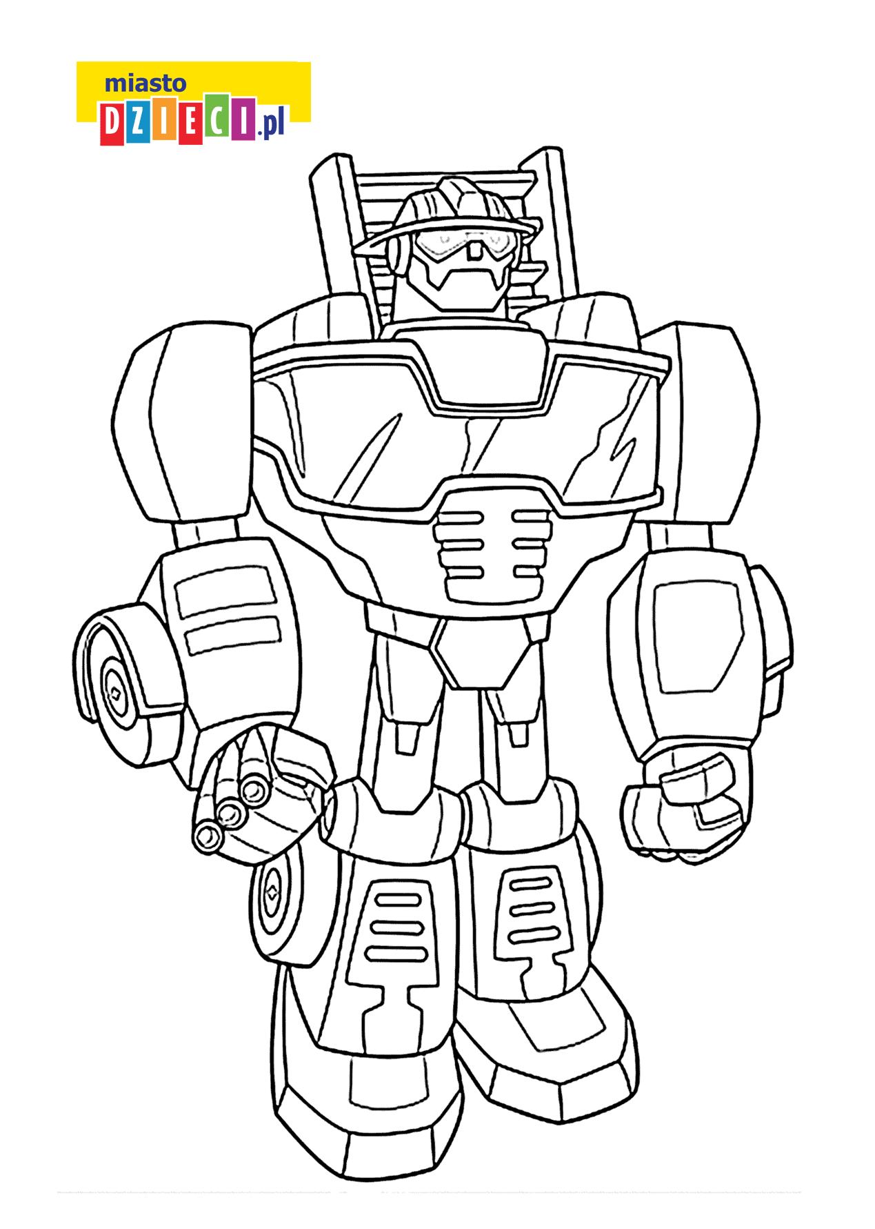 Bezpłatna Kolorowanka Z Robotem Transformers Dla Chłopców Do Druku