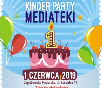 Urodzinowe kinder party Mediateki w Sosnowcu