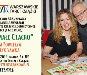 Spotkanie z Anną Powierzą i Henrykiem Sawką na Warszawskich Targach Książki