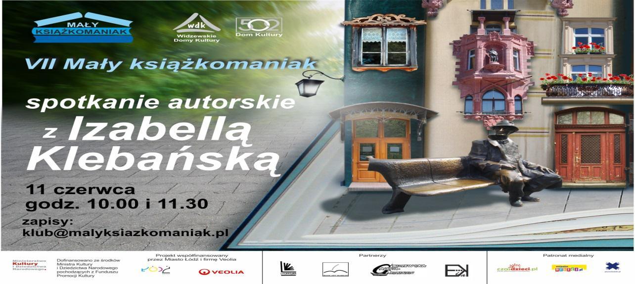 VII Mały książkomaniak: spotkania autorskie z Izabellą Klebańską