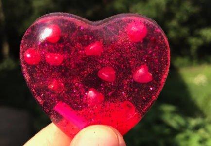 mydełko z gliceryny w kształcie serca