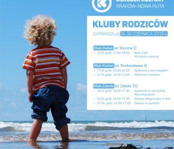 Klub Rodziców w Ośrodku Kultury Kraków-Nowa Huta – czerwiec 2019