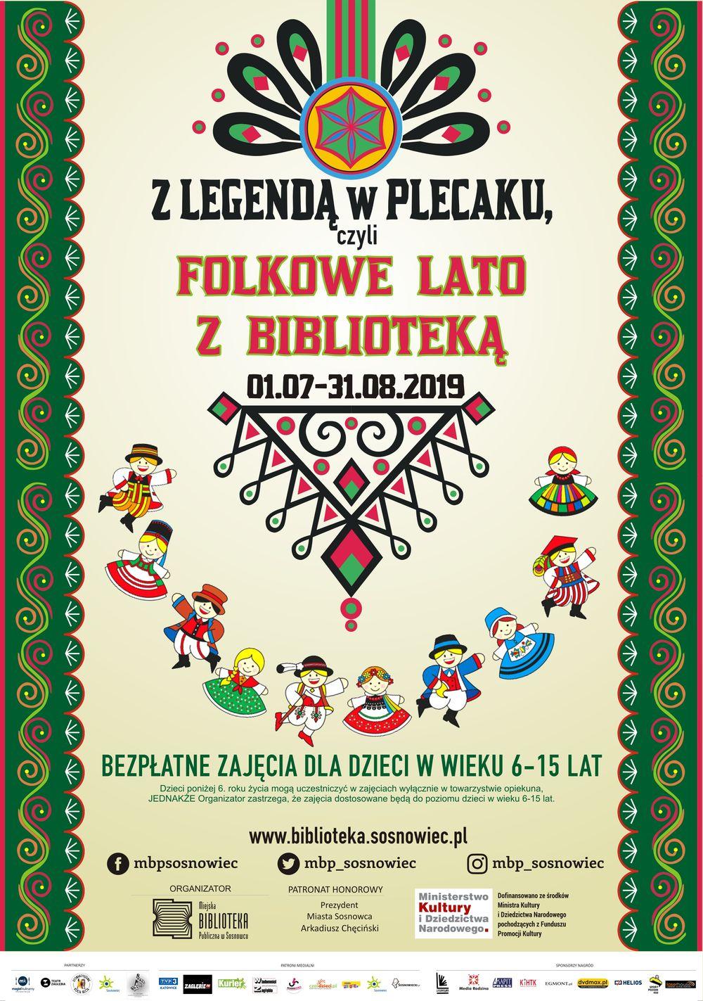 Z legendą w plecaku, czyli folkowe lato z biblioteką – akcja letnia w Sosnowcu