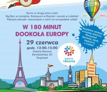 W 180 dni dookoła Europy – gra miejska w Galerii Renova