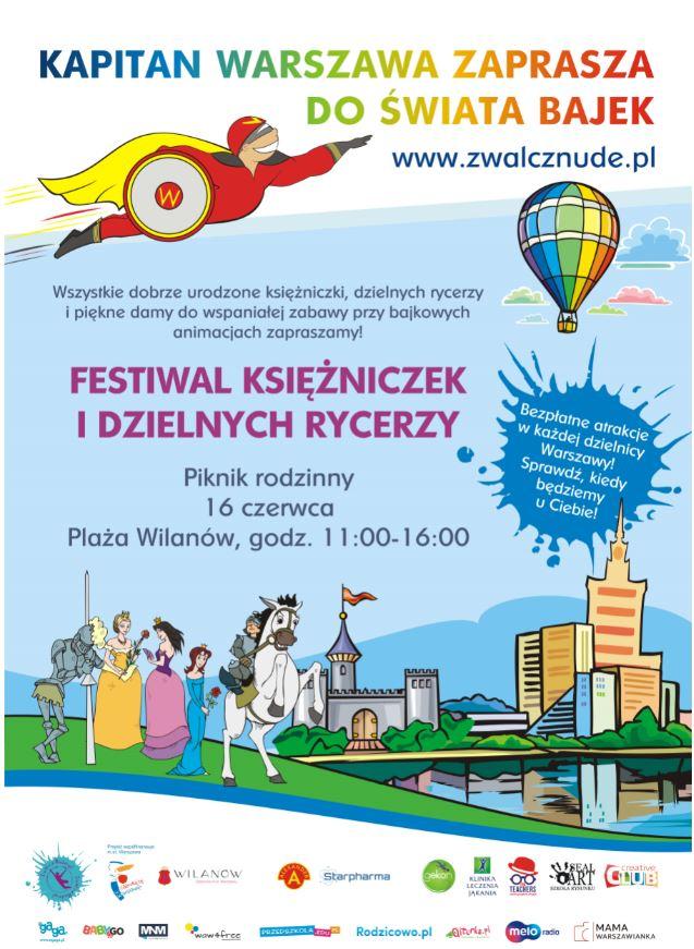 Festiwal księżniczek i dzielnych rycerzy na Wilanowie
