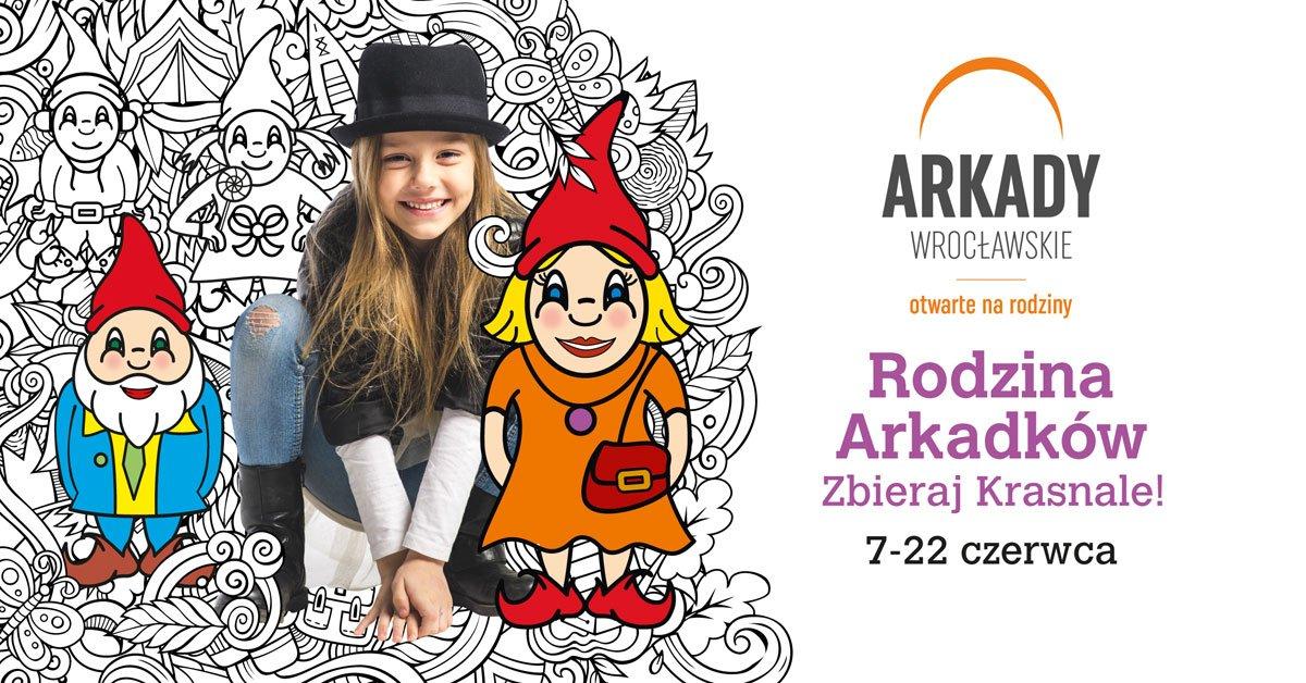 Arkady Wrocławskie rozdają krasnale