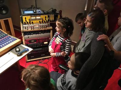 Zajęcia w studio nagrań