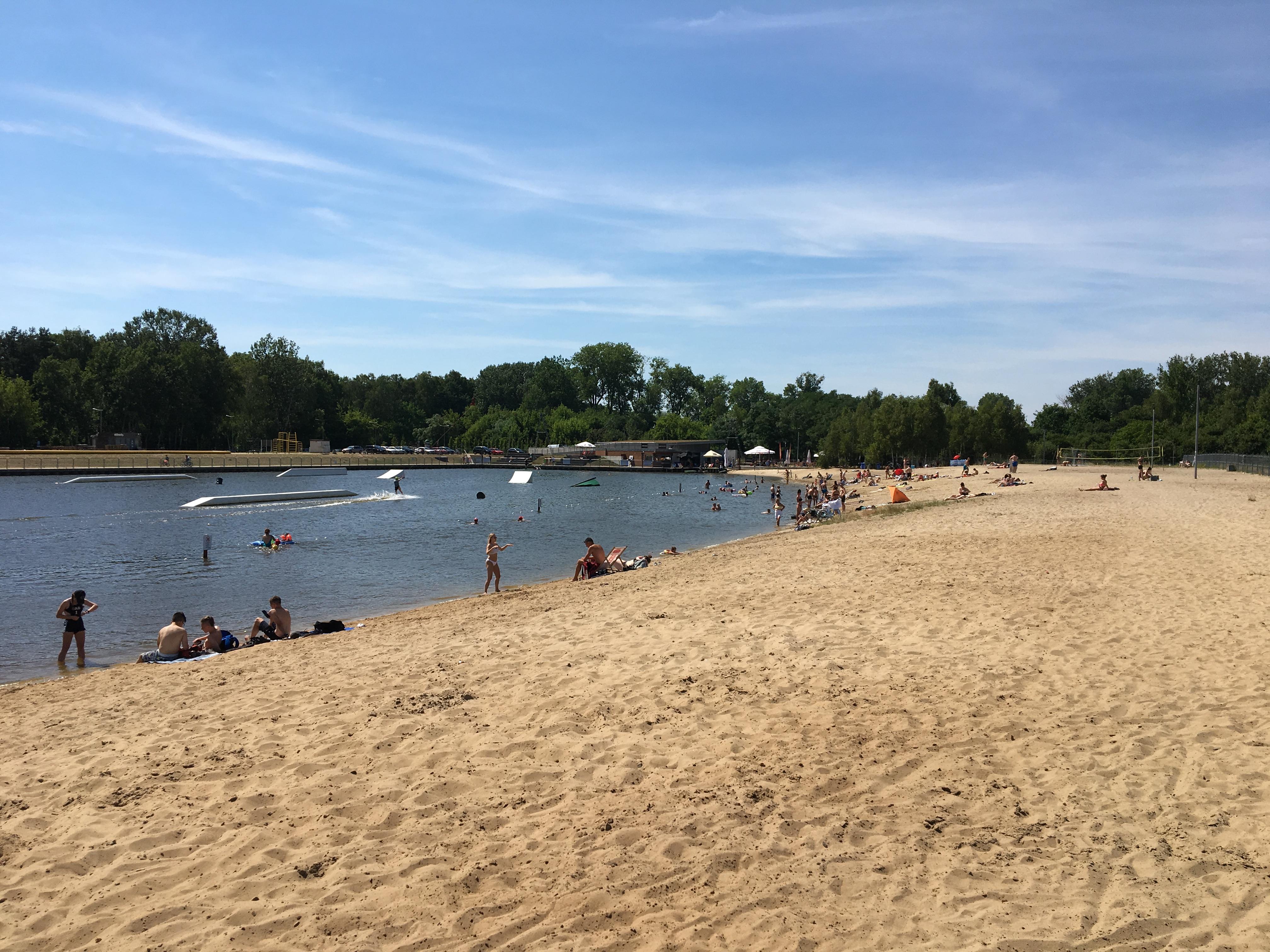 plaża Ząbki widok od strony plaży
