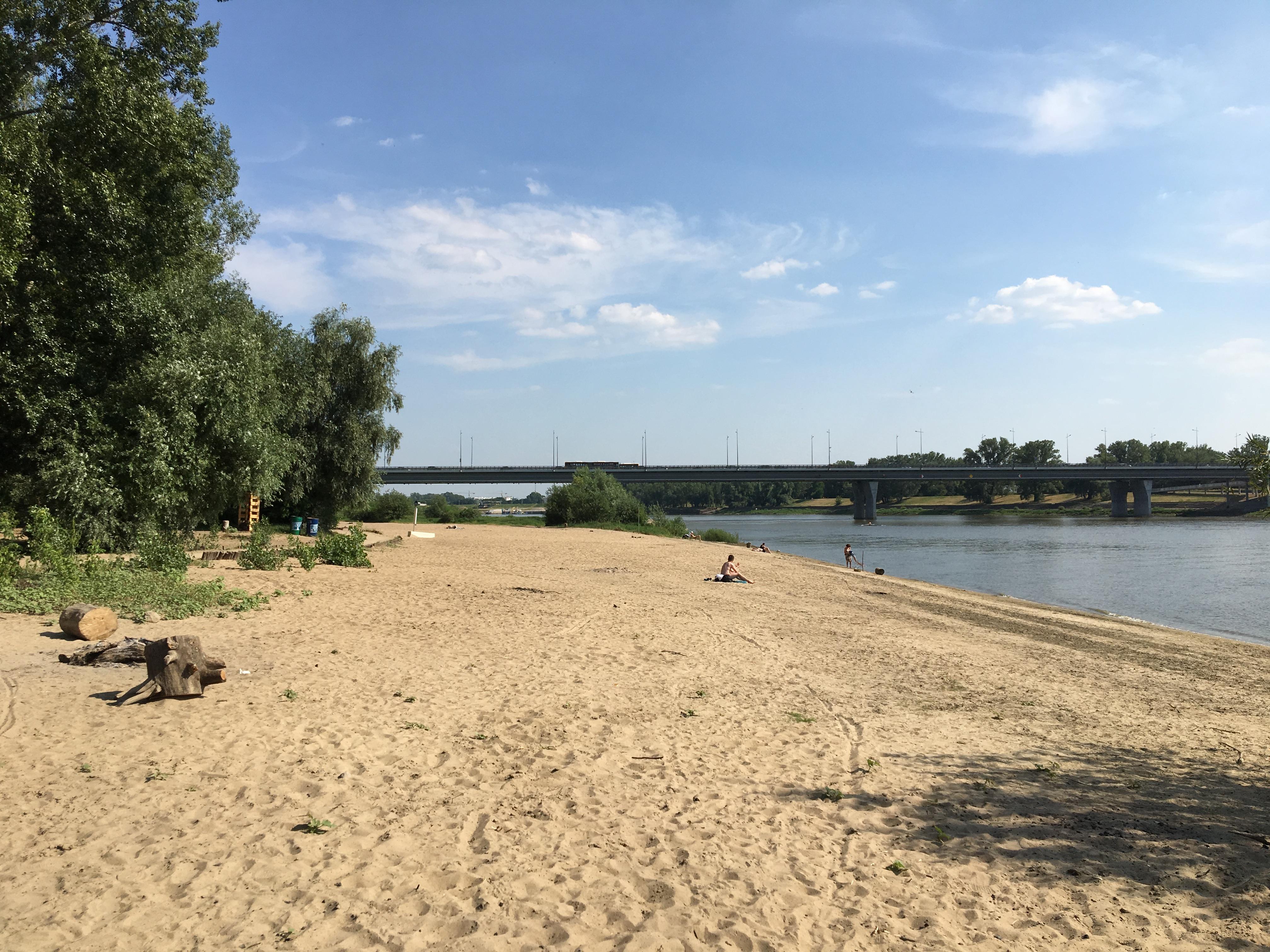Plaża Saska w Warszawie