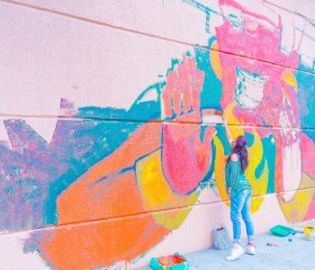 Mural – folkowe podróże malowane na murze. Sosnowiec