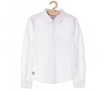 biała bluzka z długim rękawem dla dziewczynki