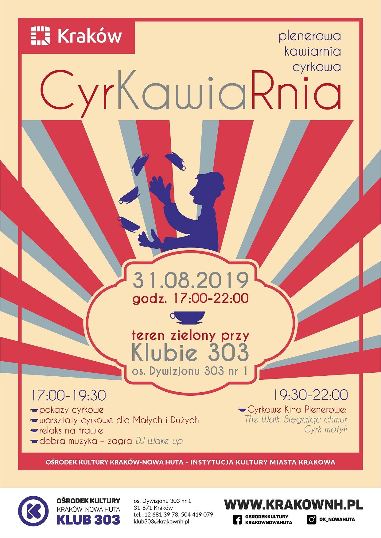 CyrKawiaRnia - plenerowa kawiarnia cyrkowa