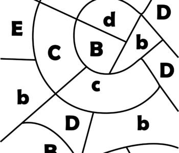 litera C - ukryte litery do nauki czytania kolorowanki i szablony do druku dla dzieci MiastoDzieci.pl