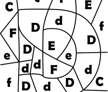 litera D - ukryte litery do nauki czytania