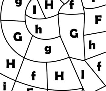litera G - ukryte litery do nauki czytania kolorowanki i szablony do druku dla dzieci MiastoDzieci.pl