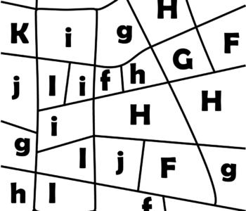 litera I - ukryte litery do nauki czytania