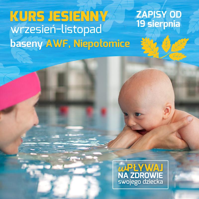 Zapisy na kurs pływania dla niemowląt – Jesień 2019