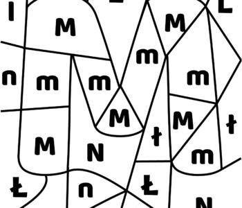 litera M - ukryte litery do nauki czytania
