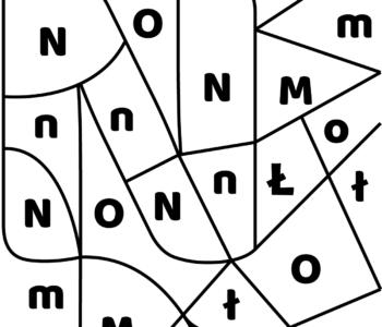 litera N - ukryte litery do nauki czytania
