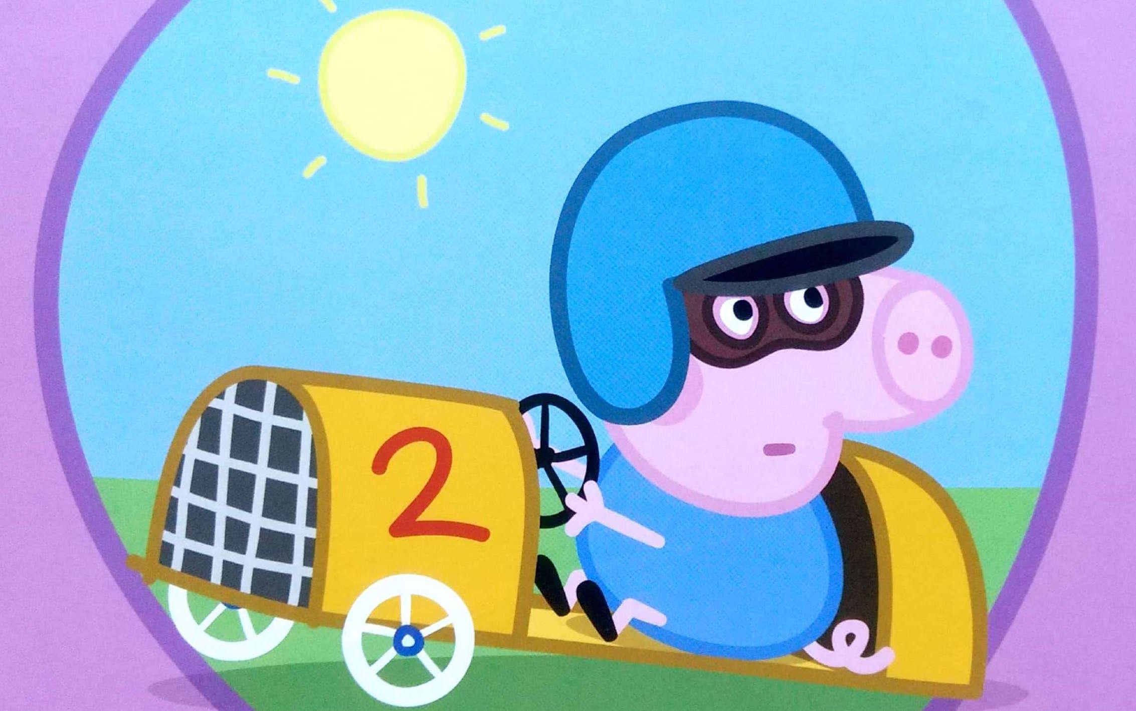 Świnka Peppa i wyścigówka Georga