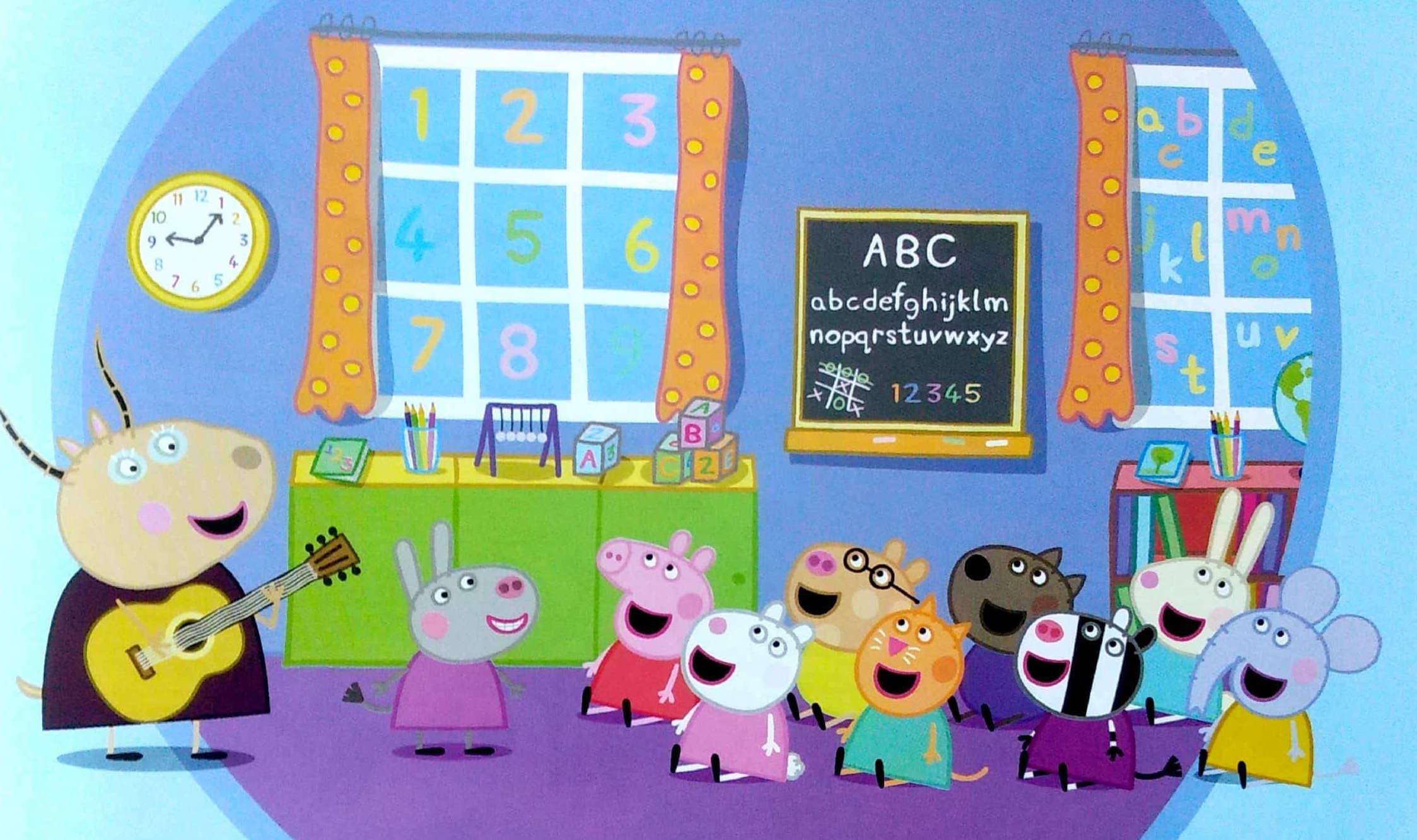 Świnka Peppa dzieci w przedszkolu