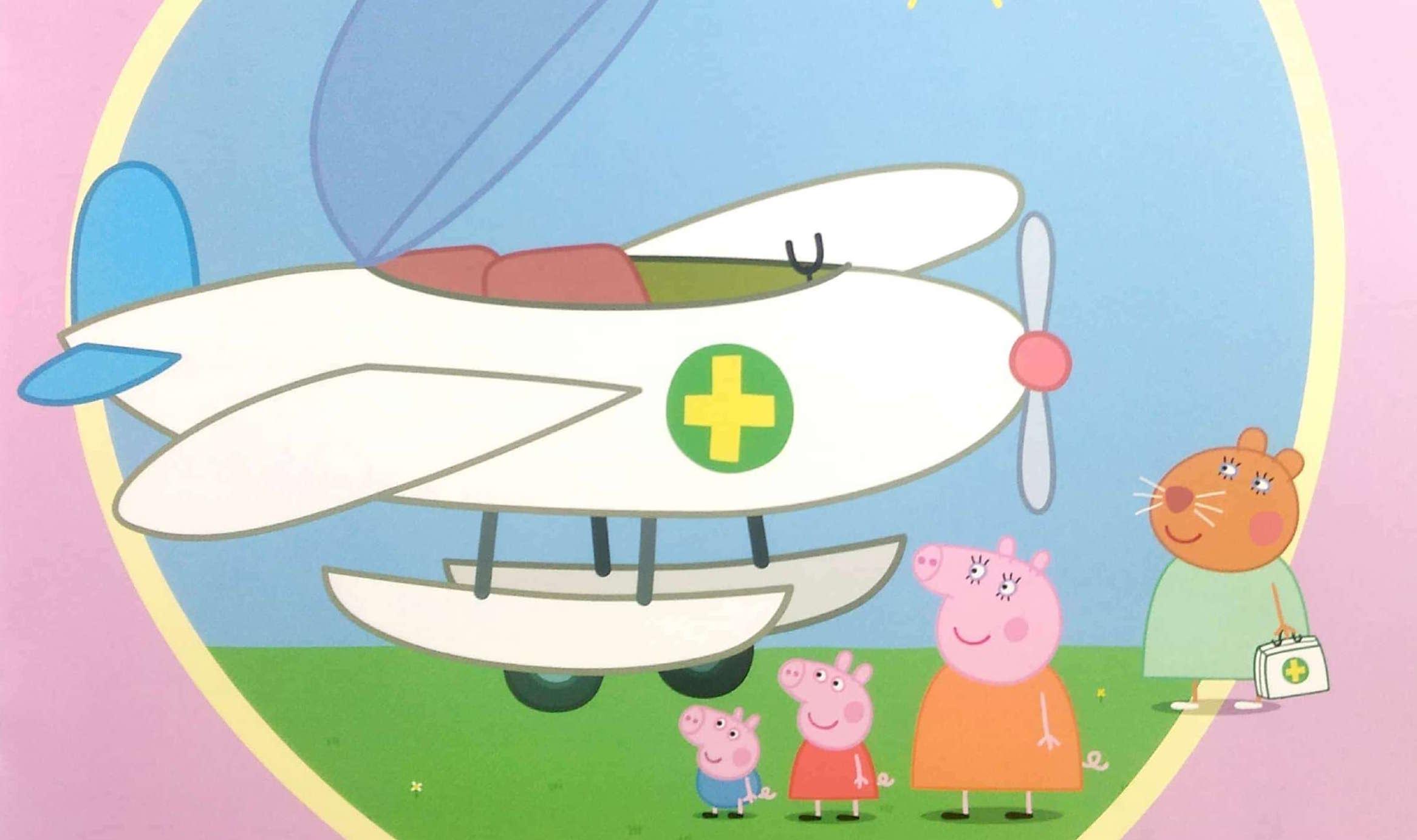 Świnka Peppa i samolot