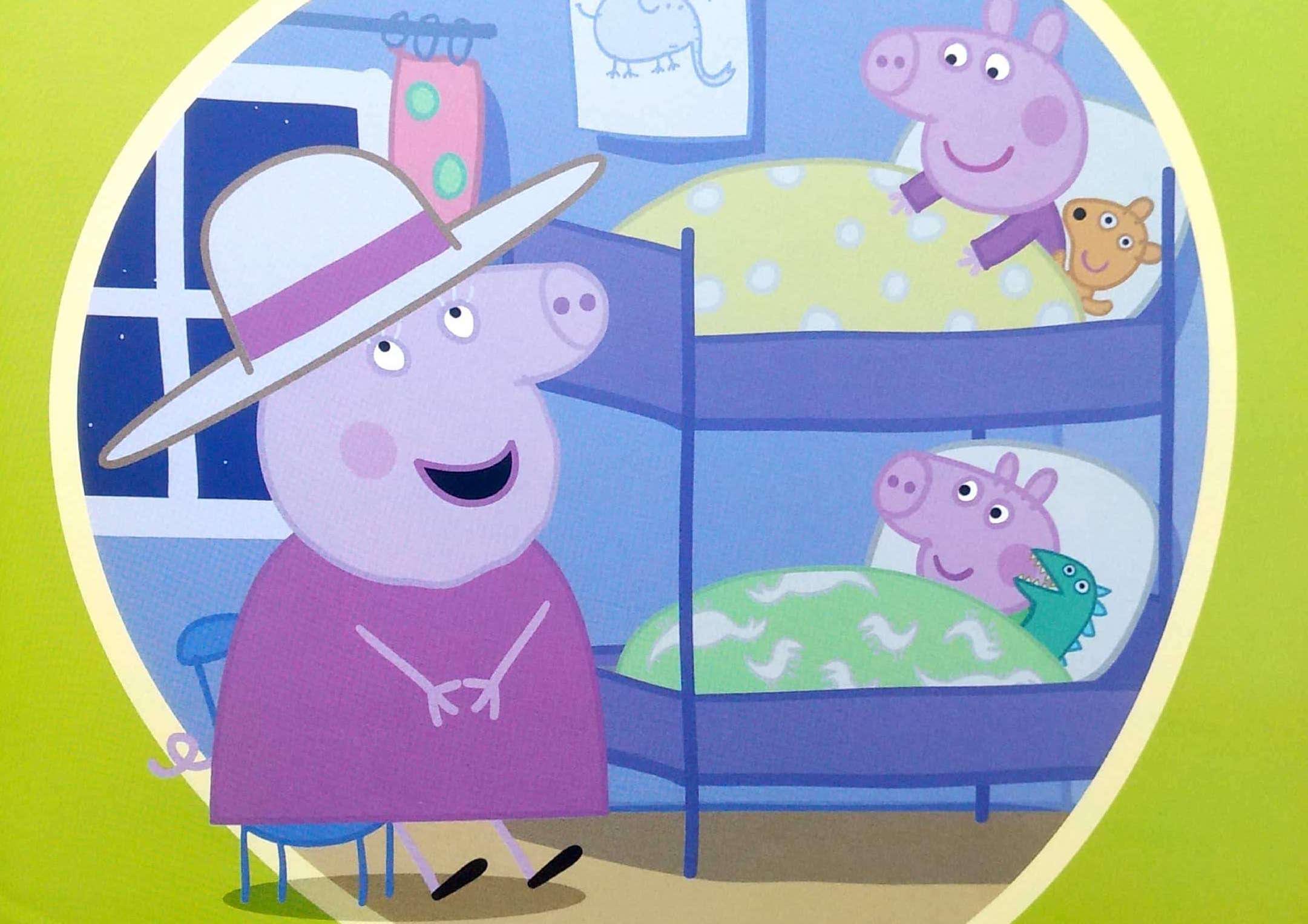 Babcia świnka opowiada bajkę