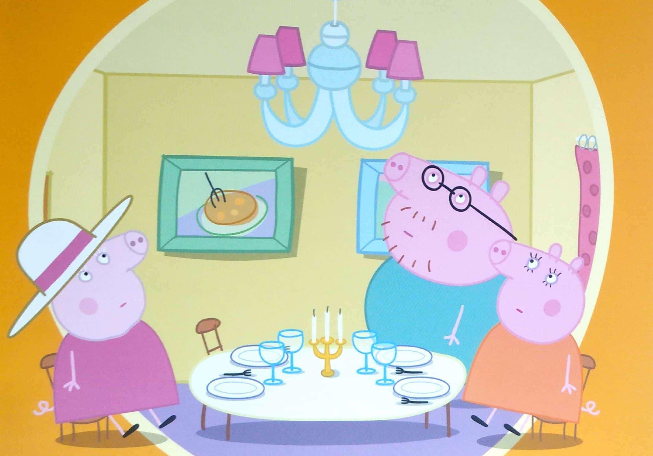 Świnka Peppa rodzina w jadalni
