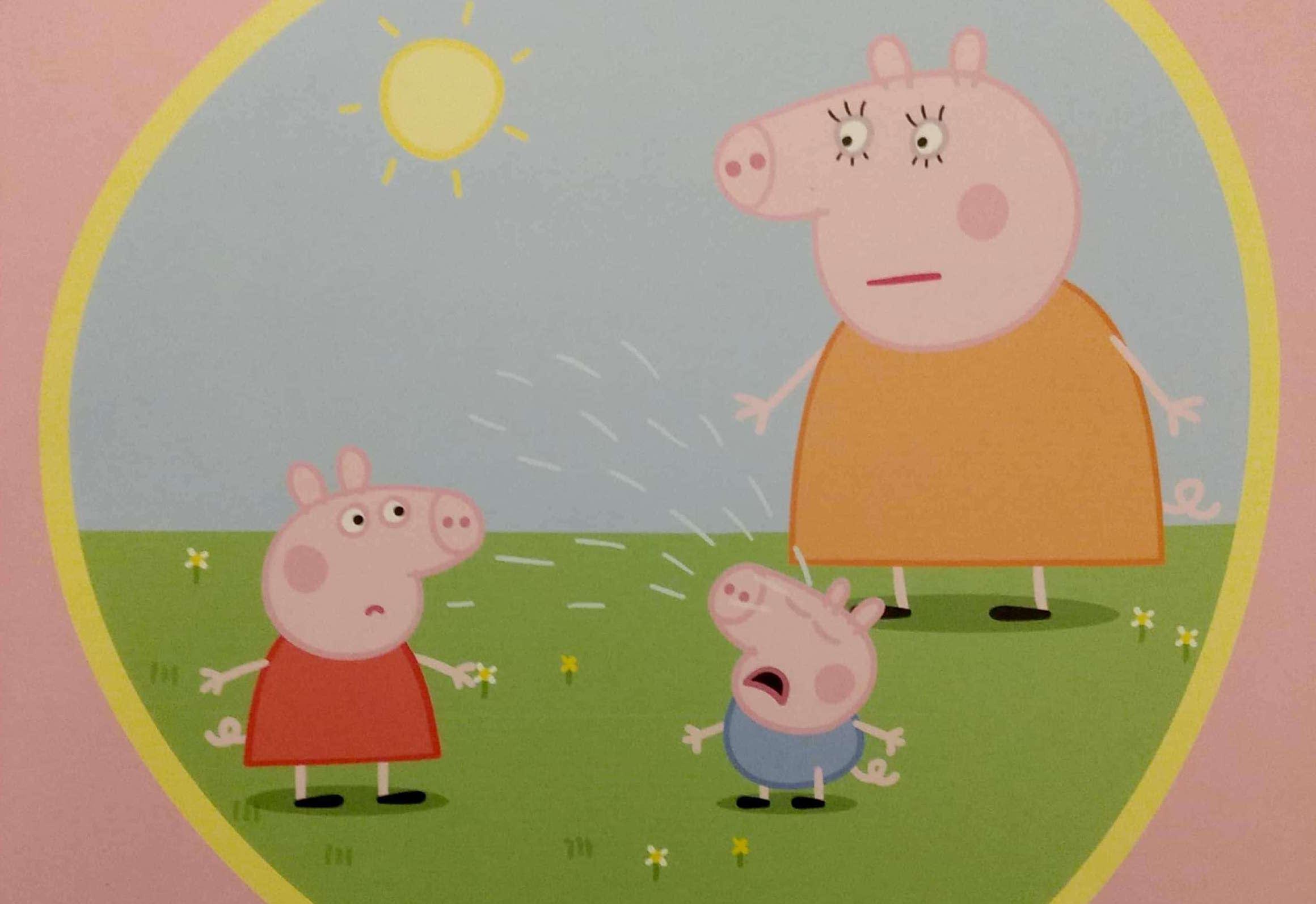 George płacze, świnka Peppa
