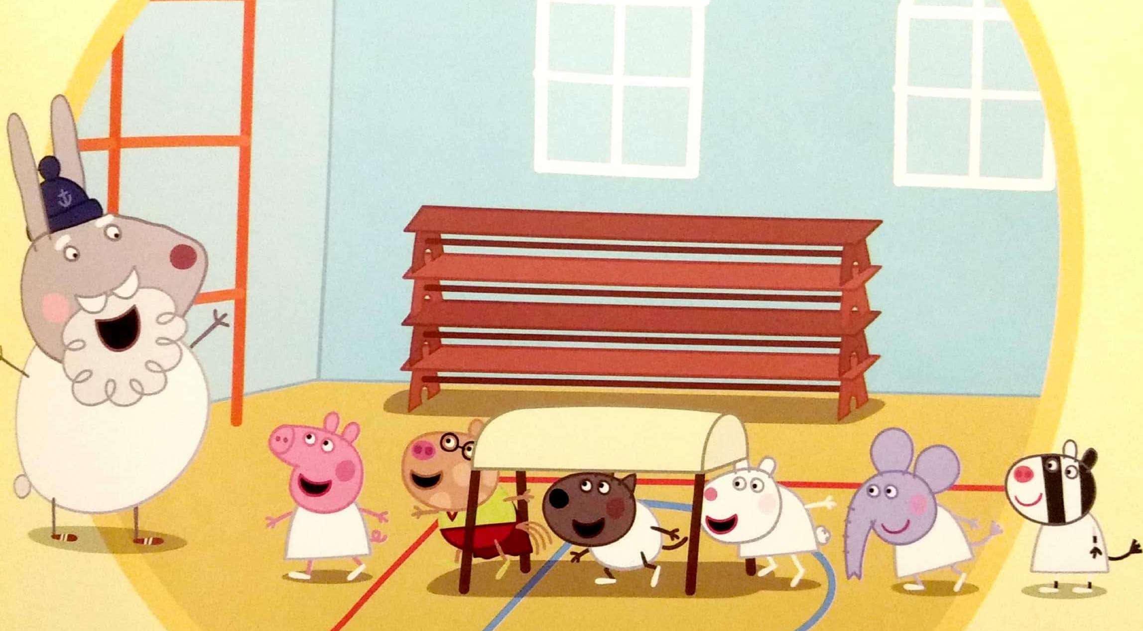 Świnka Peppa na sali gimnastycznej