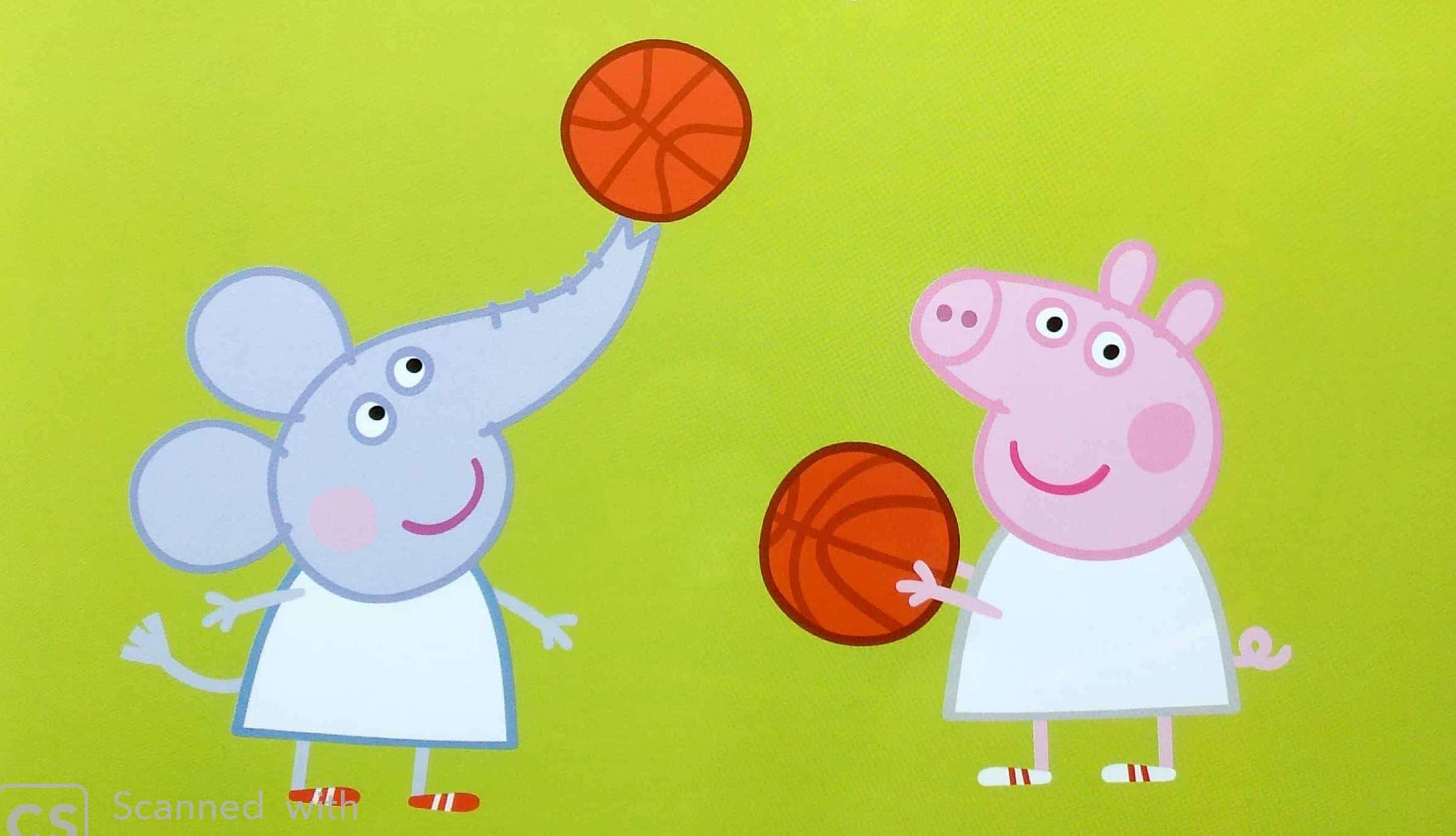 Świnka Peppa pra w koszykówkę