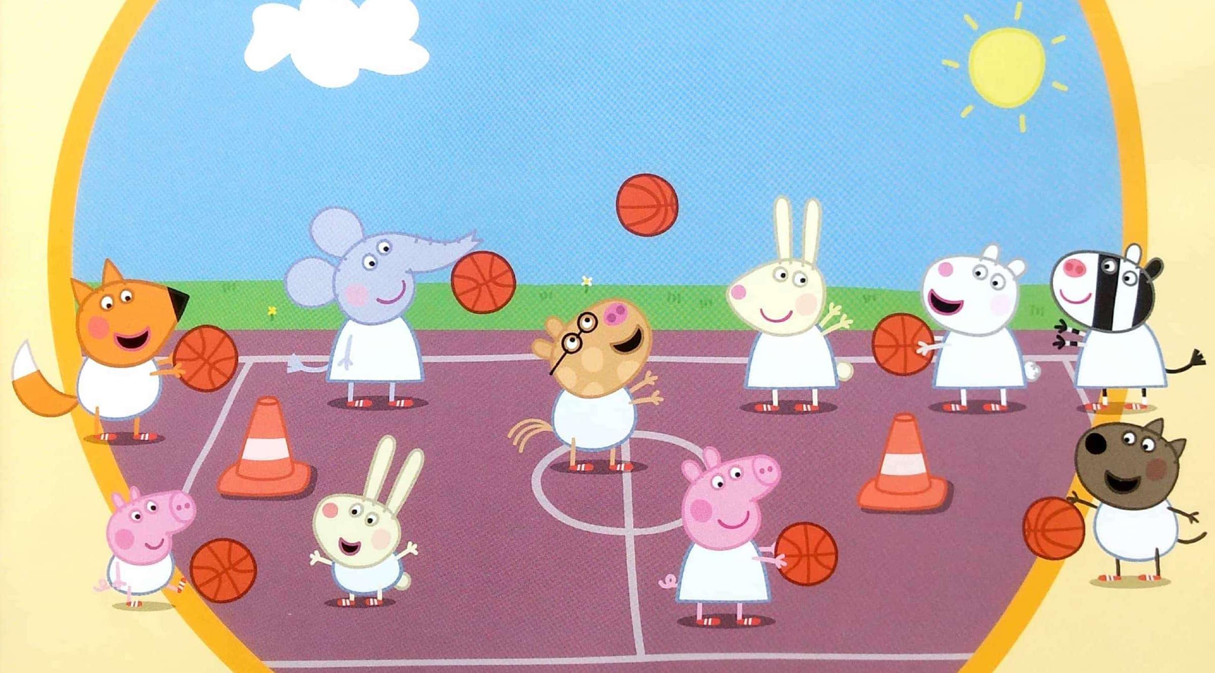 Świnka Peppa i drużyna koszykówki