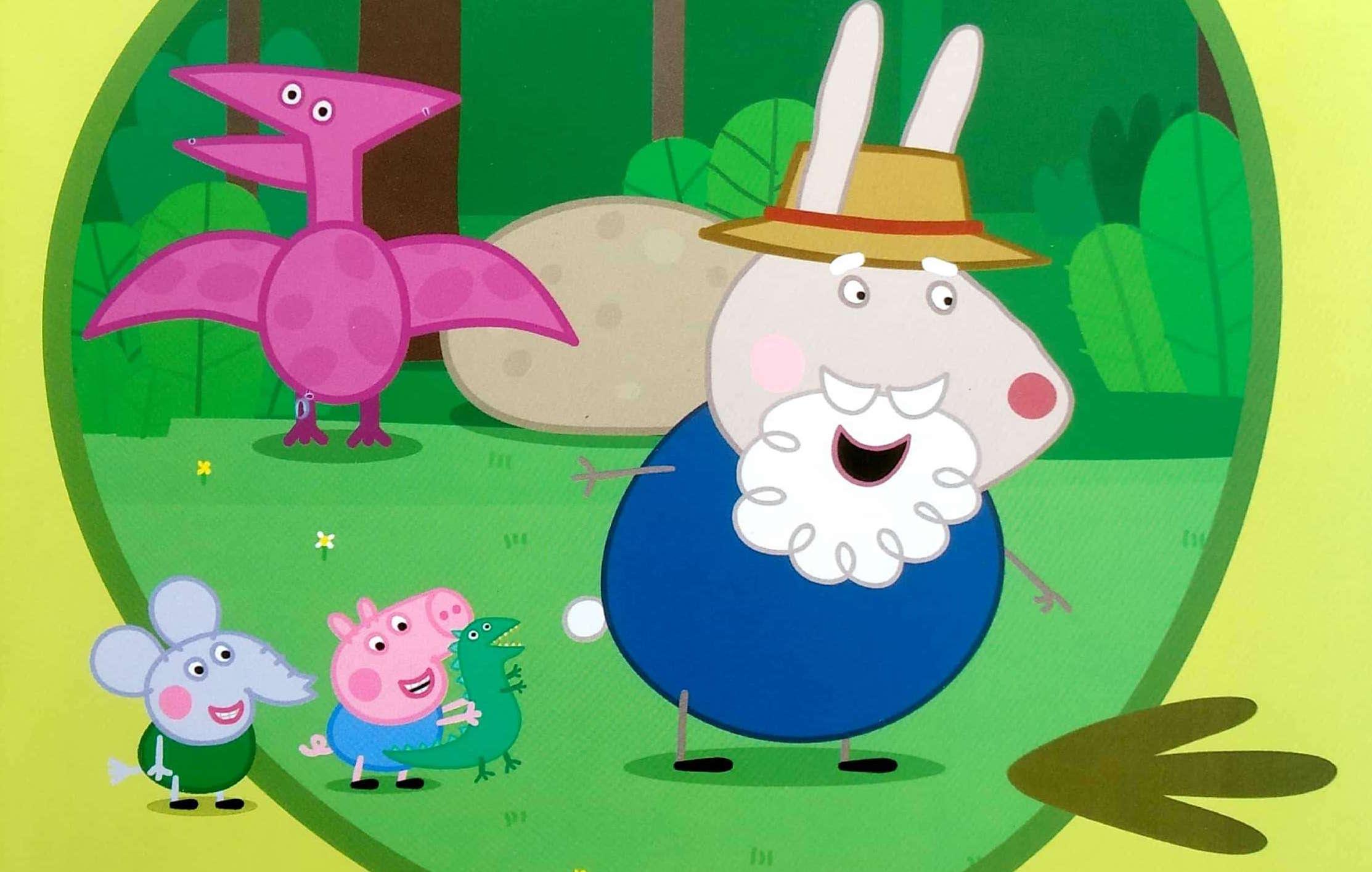 Świnka Peppa i ślady dinozaura