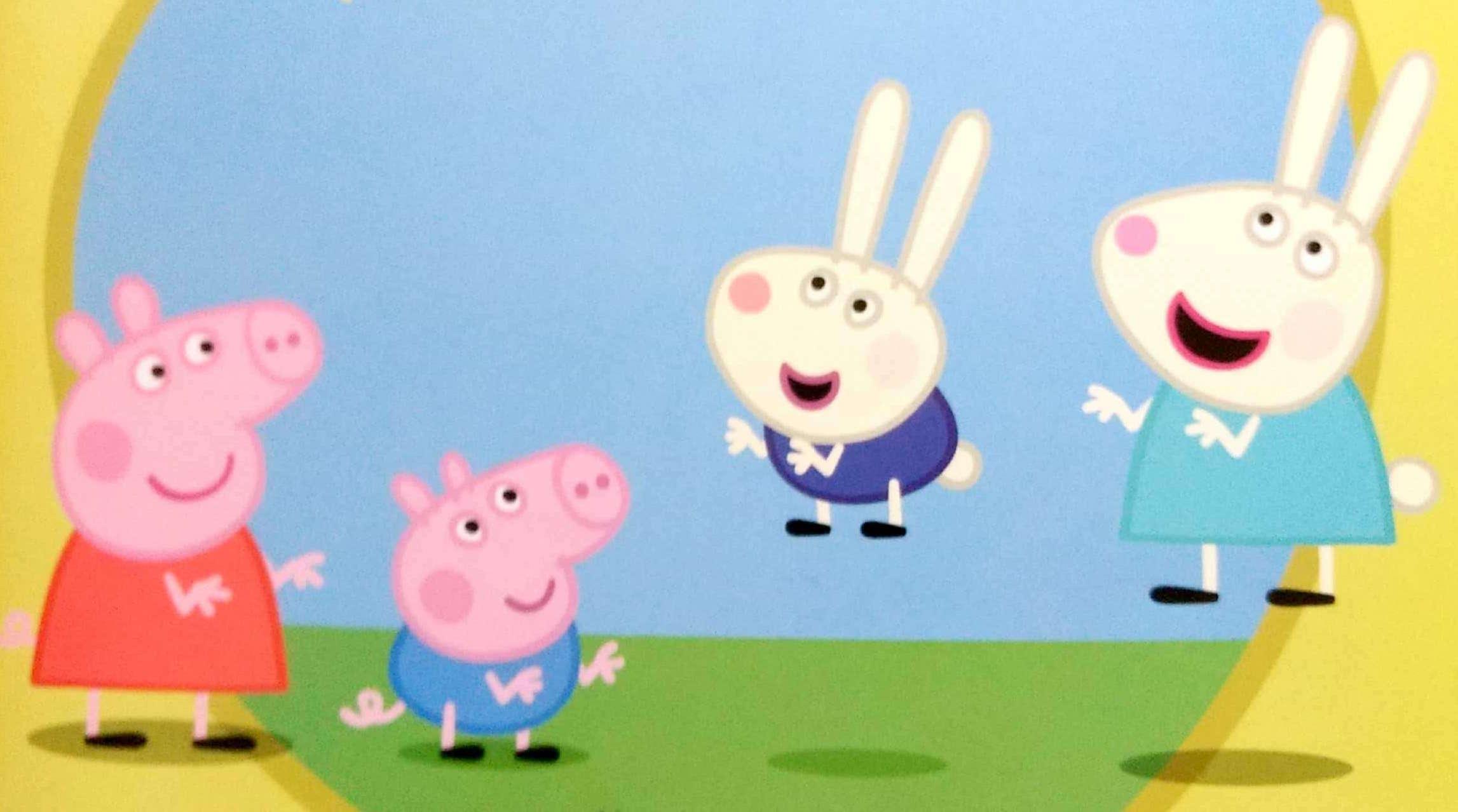 Świnka Peppa jak skaczą króliki