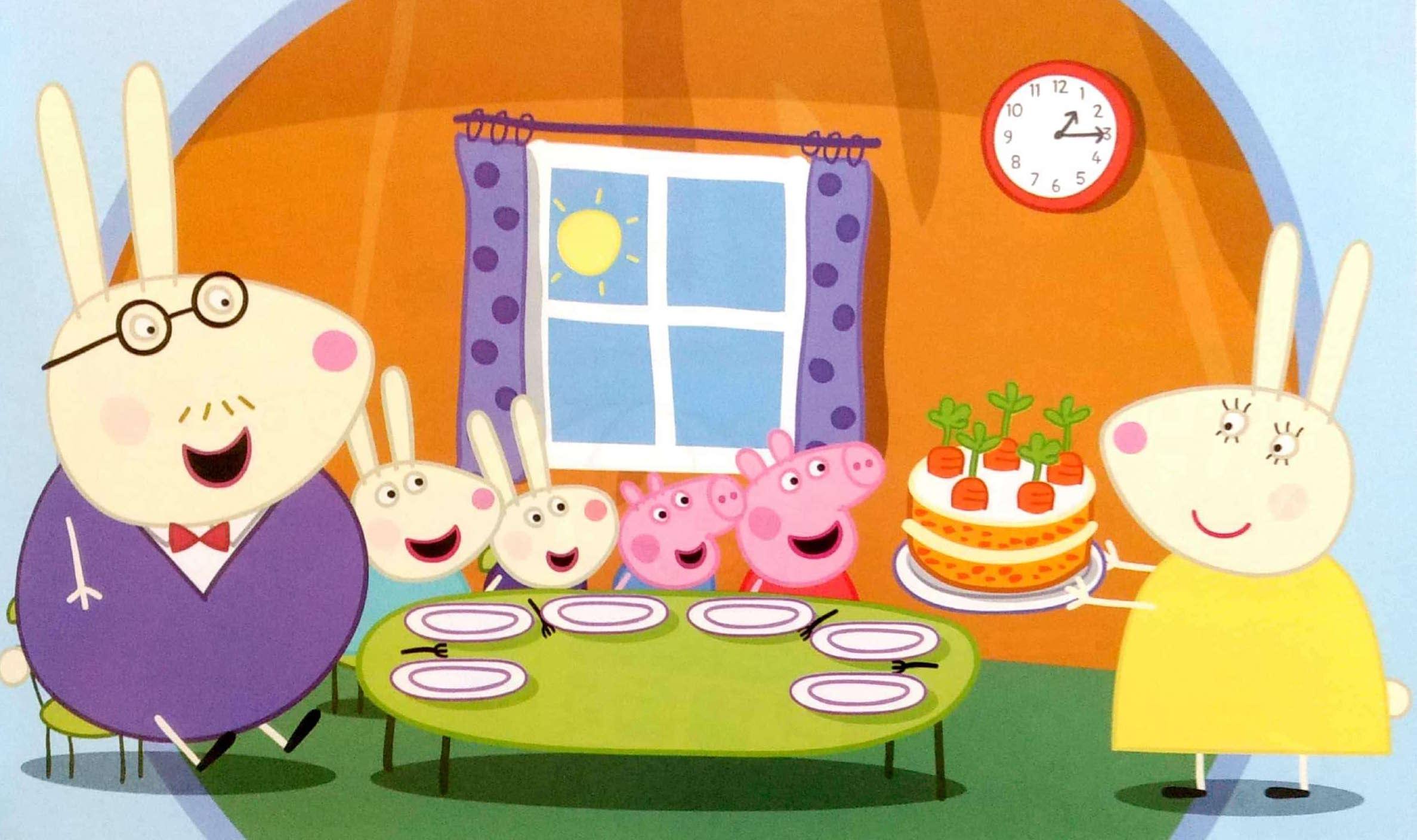 Świnka Peppa i tort marchewkowy