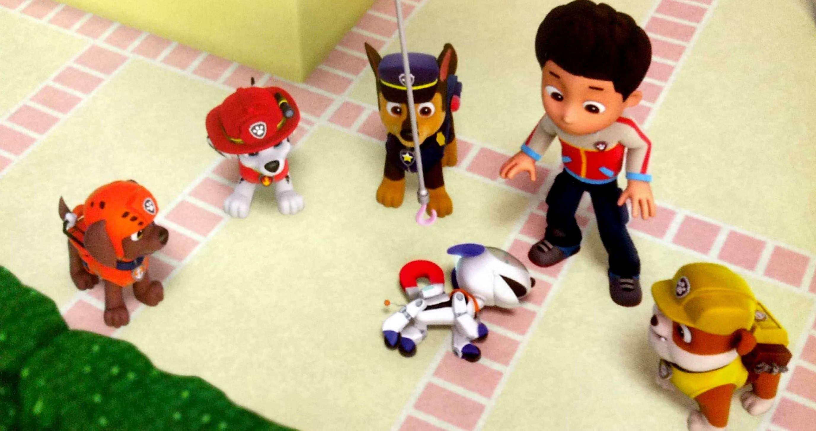 Psi Patrol złapany psi robot