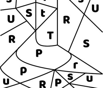 litera T - ukryte litery do nauki czytania kolorowanki i szablony do druku dla dzieci MiastoDzieci.pl