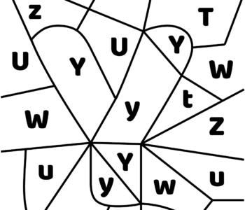 litera Y - ukryte litery do nauki czytania