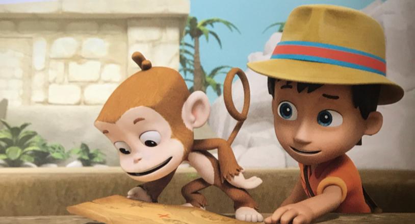 Psi Patrol - małpka i Carlos