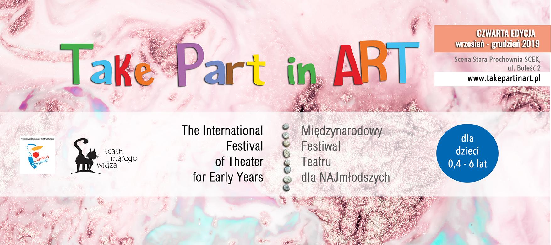 Take part in art. Najdłuższe święto teatru dla dzieci