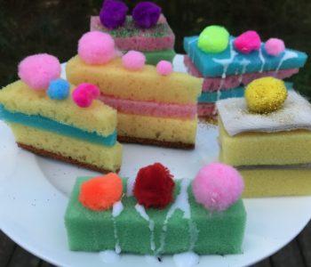 torty z gąbki