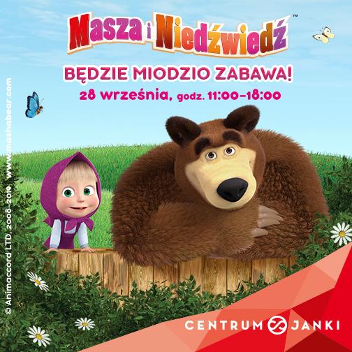 Masza i Niedźwiedź w Centrum Janki