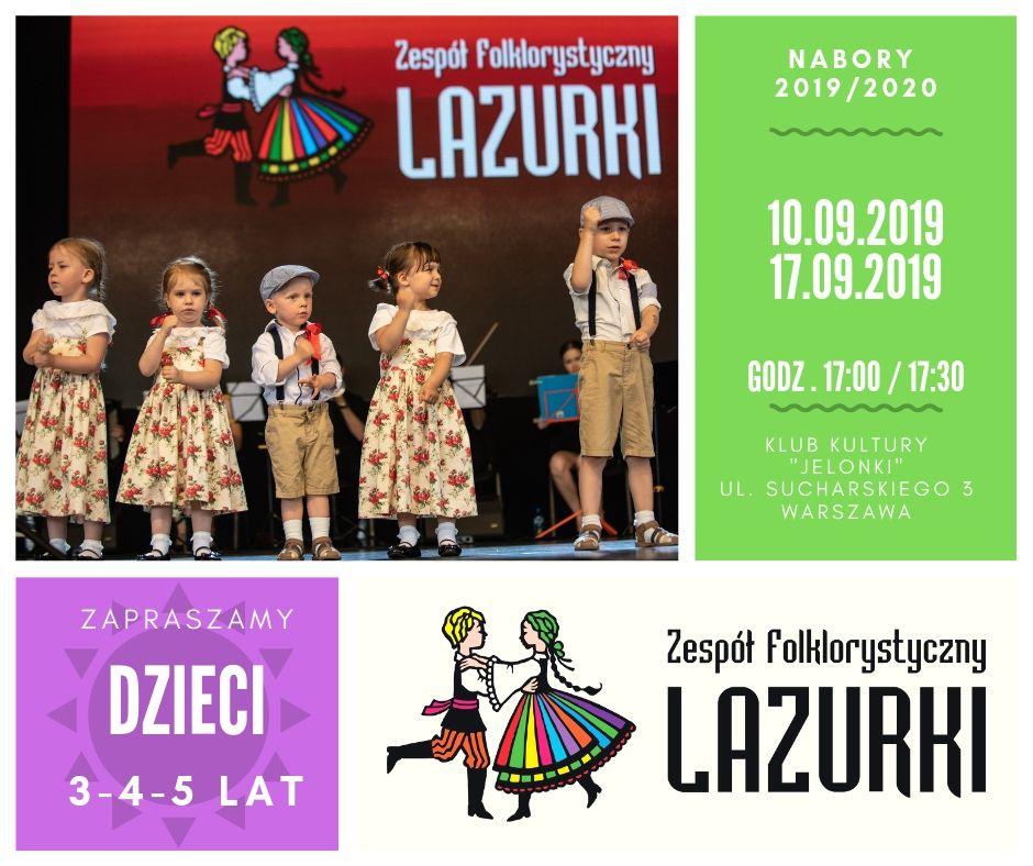 Przesłuchania dla dzieci do Zespołu Folklorystycznego Lazurki