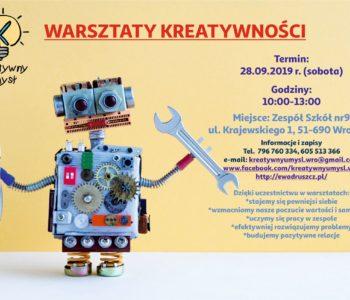 Warsztaty kreatywności – aktywność dla dzieci i młodzieży