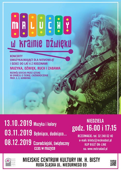Maluchy w krainie dźwięku - koncert umuzykalniający dla niemowląt i dzieci. Ruda Śląska