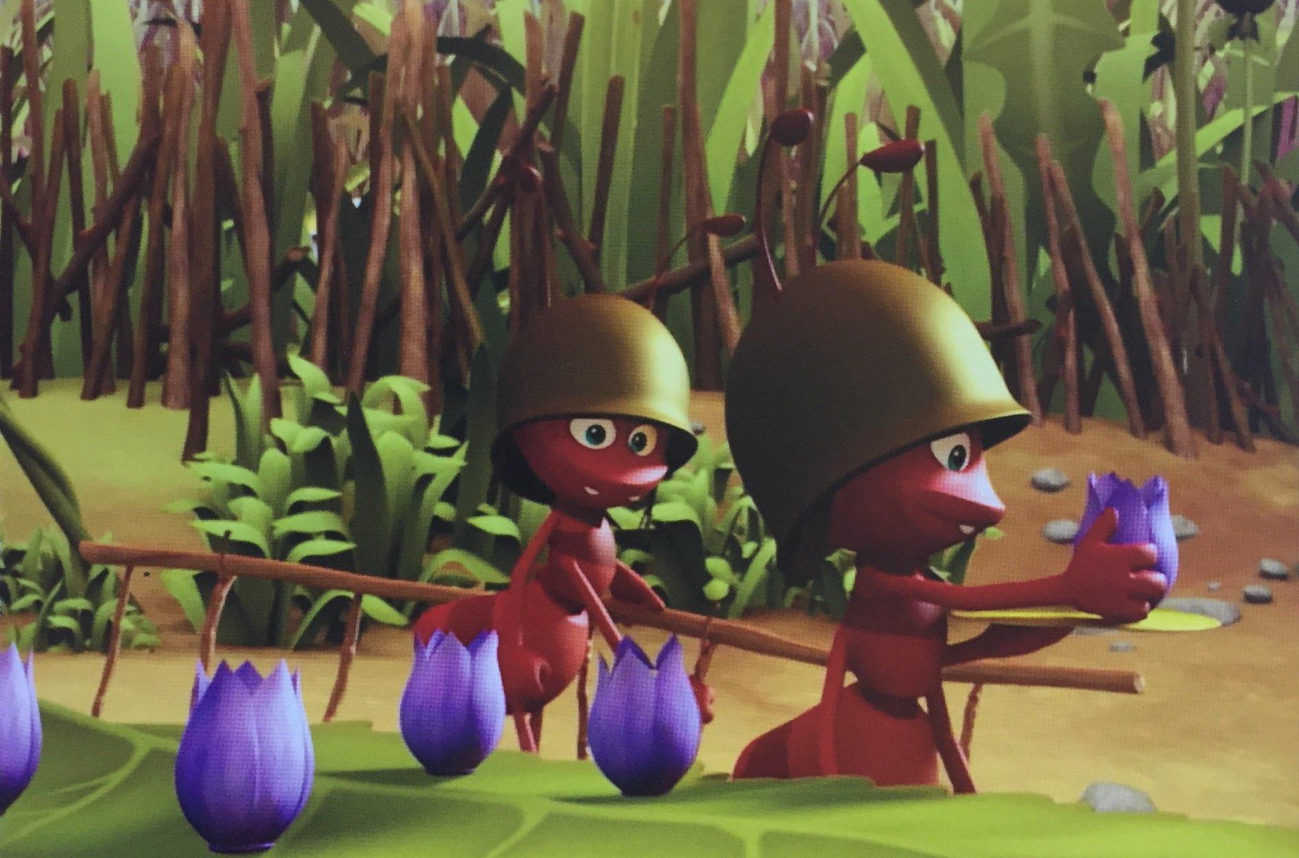 Pszczółka Maja mrówki