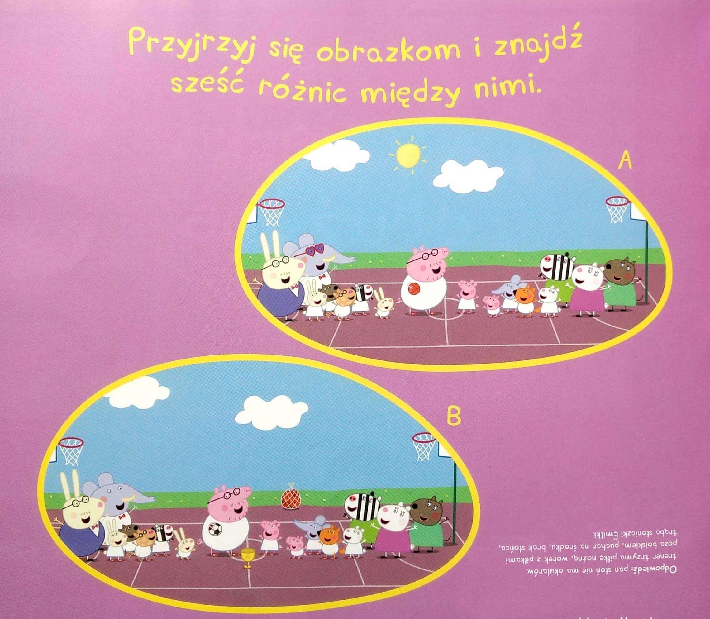 Łamigłowki dla dzieci świnka Peppa